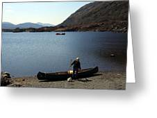 Canoe By The Lake Greeting Card