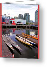 Canoe Club And Telus World Of Science In Vancouver Greeting Card