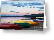 Canoe Colourama Greeting Card