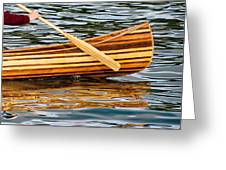 Canoe Lines And Reflections Greeting Card