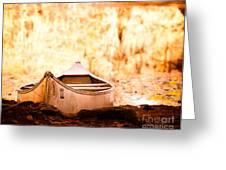 Canoe On Caddo Lake Greeting Card by Sonja Quintero