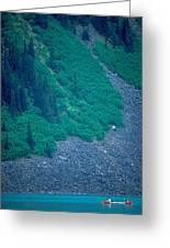 Canoe On Lake Louise Greeting Card