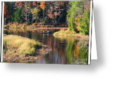Canoeing In The Fall Greeting Card