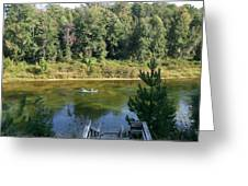 Canoeing Michigan's Au Sable Greeting Card
