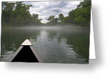 Canoeing The Ozarks Greeting Card