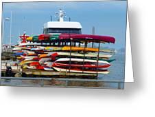 Canoes And Kayaks Greeting Card
