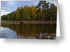 Canoes On The Shore At Loch An Eilein Greeting Card
