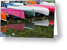 canoes - Lake Wingra - Madison  Greeting Card