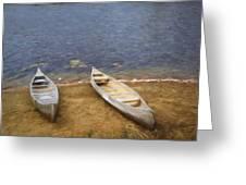 Canoes Waiting Greeting Card