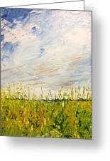 Canola Field In Abstract Greeting Card