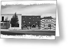 Canon City Facades - Black And White Edge Burn Greeting Card