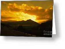 Canon City Sunset Greeting Card