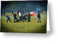 Canon Fire Reenactment Greeting Card