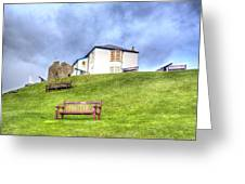 Canons On The Hill Above Tenby Wales Greeting Card