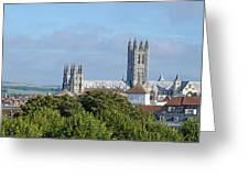Canterbury Cathedral From Dane John Mound Greeting Card