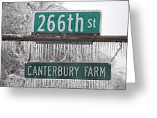 Canterbury Ice Greeting Card