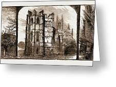 Canterbury, Uk, 1883 The Dark Entry, Beckets Crown Greeting Card