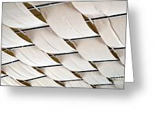 Canvas Ceiling Detail Greeting Card