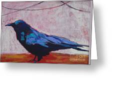 Canyon Crow Greeting Card