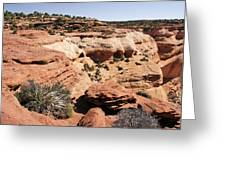Canyon De Chelly - Land Of Standing Rock Greeting Card by Christine Till