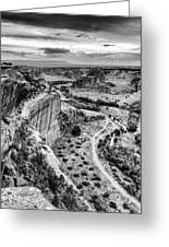 Canyon De Chelly Navajo Nation Chinle Arizona Black And White Greeting Card