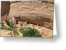 Canyon De Chelly Ruins Greeting Card
