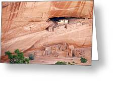 Canyon De Chelly White House Ruins Greeting Card by Christine Till
