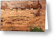 Canyon Dechelly Pueblo Ruins Greeting Card