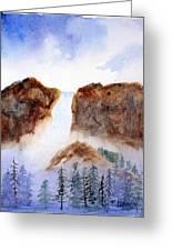 Canyon Falls Greeting Card