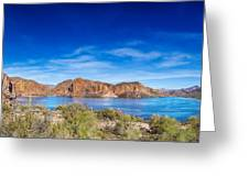 Canyon Lake Panorama Greeting Card