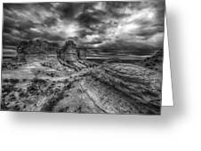 Canyon Light And Clouds Greeting Card