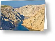Canyon Of Zrmanja River In Croatia Greeting Card