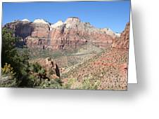 Canyon Overview Zion Park Greeting Card