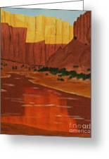 Canyon Reflection Greeting Card