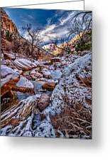 Canyon Stream Winterized Greeting Card