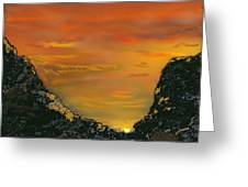 Canyon Sunrise Update Greeting Card