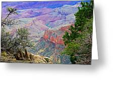 Canyon View From Walhalla Overlook On North Rim Of Grand Canyon-arizona  Greeting Card