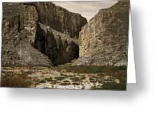 Canyon Walls Greeting Card