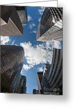 Canyons Of New York I Greeting Card