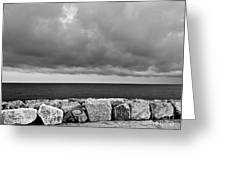 Caorle Dream Black And White Greeting Card