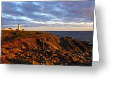Cape Anguille Lighthouse Greeting Card