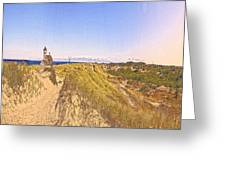 Cape Cod Americana -on Race Point Greeting Card