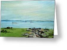 Cape Cod  Boats Greeting Card