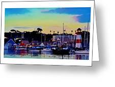 Cape Cod Harbor Greeting Card