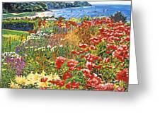 Cape Cod Ocean Garden Greeting Card