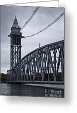 Cape Cod Railroad Bridge No. 2 Greeting Card by David Gordon