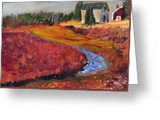 Cape Cranberry Bog In Season Greeting Card