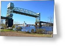 Cape Fear Draw Bridge  Greeting Card