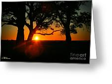 Cape Fear Sunset Greeting Card