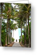 Cape Florida Walkway Greeting Card